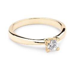 """Saderināšanās gredzens ar briljantu """"Dieviete 5"""""""