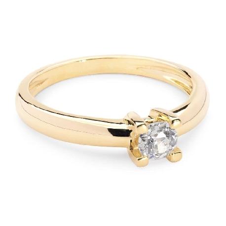 """Помолвочное кольцо с бриллиантом """"Прочность 8"""""""