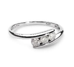 """Золотое кольцо с бриллиантами """"Трилогия 3"""""""