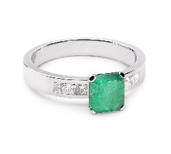 """Zelta gredzens ar dārgakmeņiem """" Smaragds 4"""""""