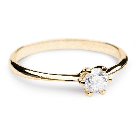 """Помолвочное кольцо с бриллиантом """"Королева сердца 8"""""""