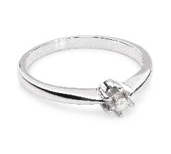 """Saderināšanās gredzens ar briljantu """"Klasika 11"""""""