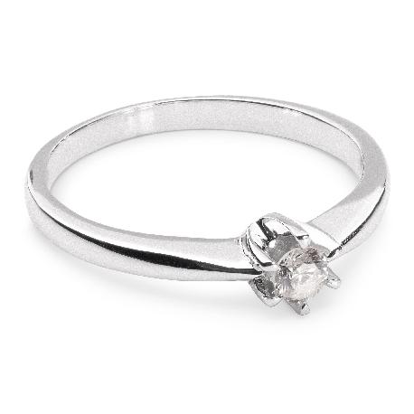 """Помолвочное кольцо с бриллиантом """"Классика 11"""""""
