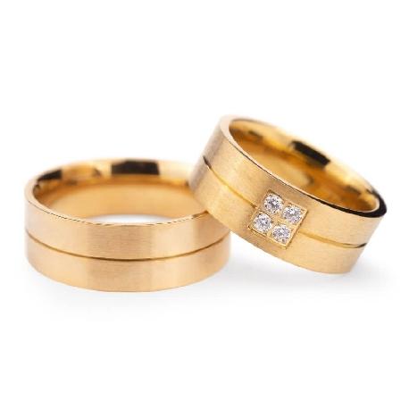"""Laulību gredzeni ar dimantiem """"VMA 130"""""""