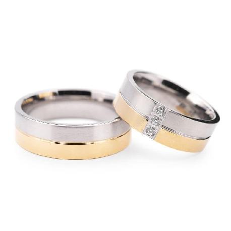 """Золотые обручальные кольца с бриллиантами """"VMA 132"""""""
