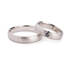"""Золотые обручальные кольца с бриллиантами """"VKA 127"""""""