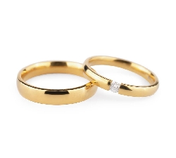 """Золотые обручальные кольца с бриллиантами """"VKA 133"""""""