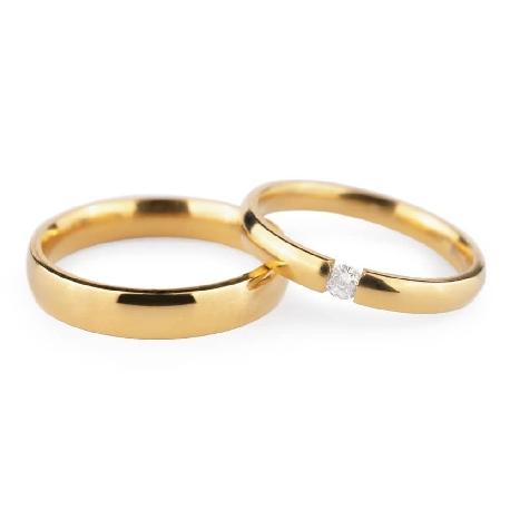 """Laulību gredzeni ar dimantiem """"VKA 133"""""""