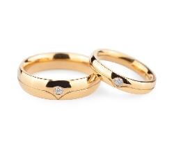 """Золотые обручальные кольца с бриллиантами """"VKA 134"""""""