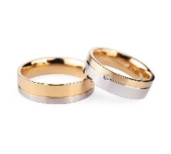 """Auksiniai vestuviniai žiedai """"VMA135"""""""