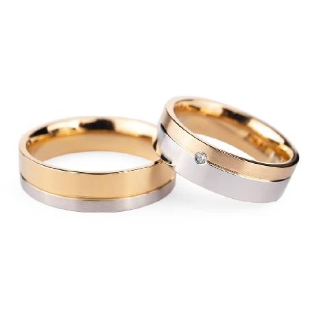 """Золотые обручальные кольца с бриллиантами """"VMA 135"""""""