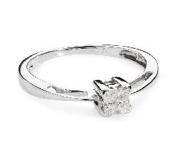 """Помолвочное кольцо с алмазами """"Принцессы II"""""""