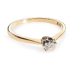 """Помолвочное кольцо с бриллиантом """"Единственная 30"""""""