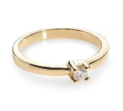 """Saderināšanās gredzens ar briljantu """"Stiprums 14"""""""