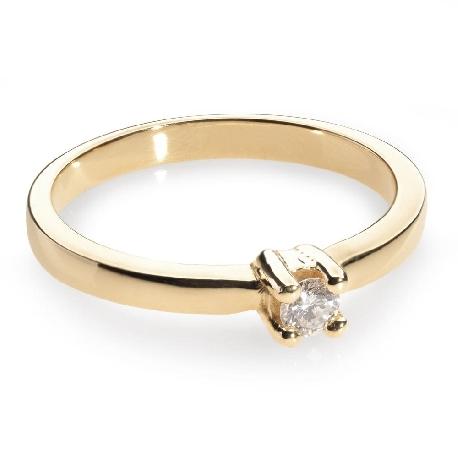 """Помолвочное кольцо с бриллиантом """"Прочность 14"""""""