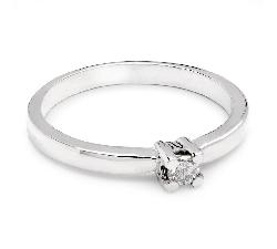 """Помолвочное кольцо с бриллиантом """"Прочность 15"""""""
