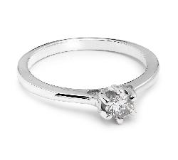"""Saderināšanās gredzens ar briljantu """"Sirds karaliene 12"""""""