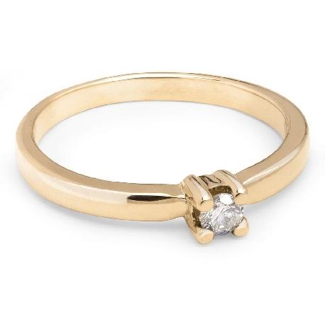 """Saderināšanās gredzens ar briljantu """"Elegance 6"""""""