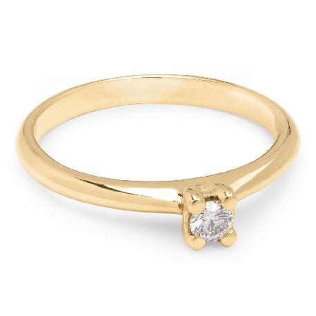 """Помолвочное кольцо с бриллиантом """"Богиня 12"""""""