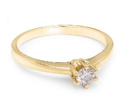 """Saderināšanās gredzens ar briljantu """"Karaļmeita 9"""""""