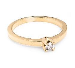 """Помолвочное кольцо с бриллиантом """"Принцесса 10"""""""