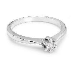 """Saderināšanās gredzens ar briljantu """"Tīra 15"""""""
