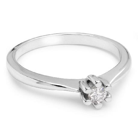 """Помолвочное кольцо с бриллиантом """"Чистая 15"""""""