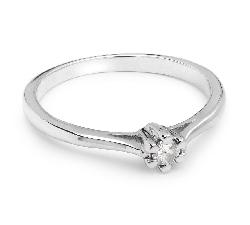 """Помолвочное кольцо с бриллиантом """" Чистая 11"""""""