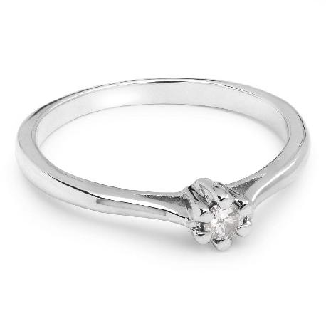 """Saderināšanās gredzens ar briljantu """"Tīra 11"""""""