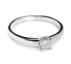 """Saderināšanās gredzens ar briljantu """"Princese"""""""