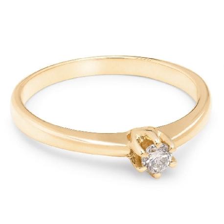 """Помолвочное кольцо с бриллиантом """"Принцесса 12"""""""