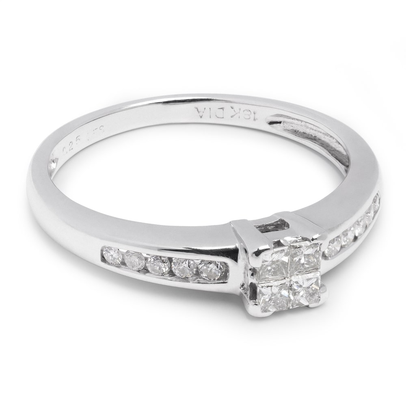"""Помолвочное кольцо с алмазами """"Принцессы 475"""""""