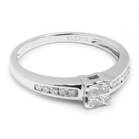 """Saderināšanās gredzens ar dimantiem """"Princeses 4"""""""