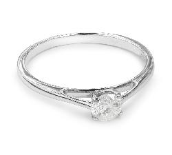 """Помолвочное кольцо с бриллиантом """"Богиня 14"""""""