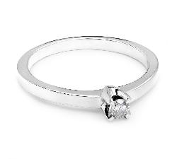 """Saderināšanās gredzens ar briljantu """"Karaļmeita 15"""""""