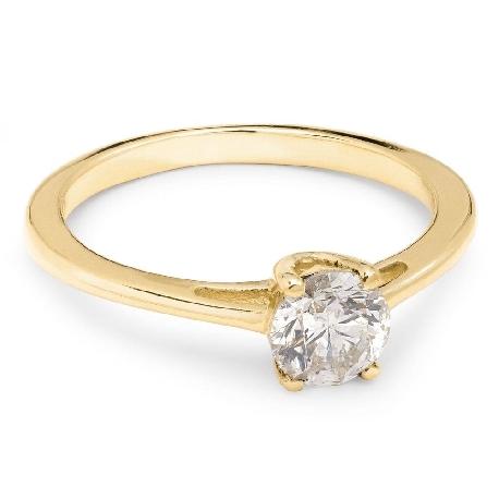 """Помолвочное кольцо с бриллиантом """"Богиня 16"""""""