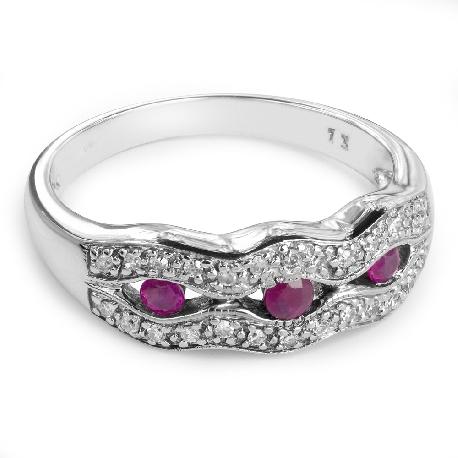 """Золотое кольцо с драгоценными камнями """"Рубин 5"""""""