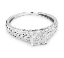"""Saderināšanās gredzens ar dimantiem """"Princeses 6"""""""