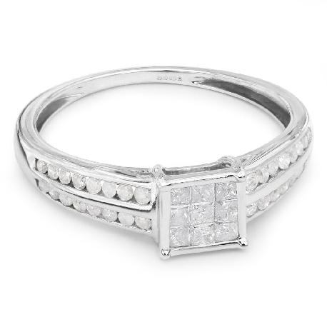 """Помолвочное кольцо с алмазами """"Принцессы 6"""""""