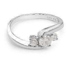 """Помолвочное кольцо с бриллиантами """"Трилогия 4"""""""