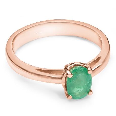 """Zelta gredzens ar dārgakmeņiem """"Smaragds 7"""""""