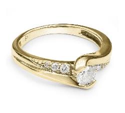 """Помолвочное кольцо с бриллиантами """"Жизнь 3"""""""