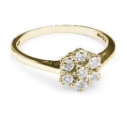 """Saderināšanās gredzens ar Briljantiem """"Briljanta zieds 7"""""""