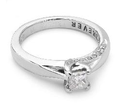 """Помолвочное кольцо с алмазами """"Принцесса 4"""""""