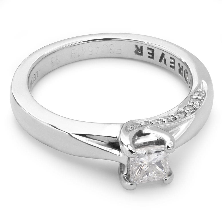 """Saderināšanās gredzens ar briljantiem """"Princese 4"""""""