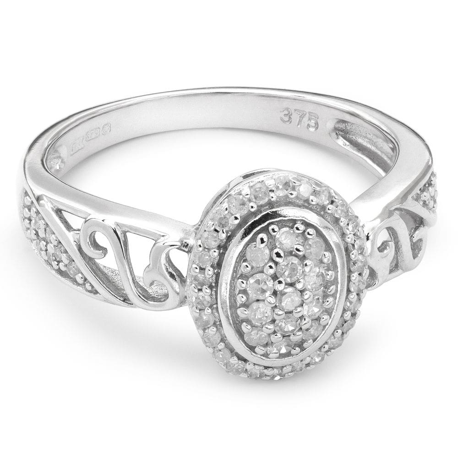 """Золотое кольцо с алмазами """"Корона 3"""""""