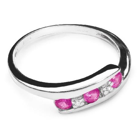 """Золотое кольцо с драгоценными камнями """"В объятиях любви 6"""""""