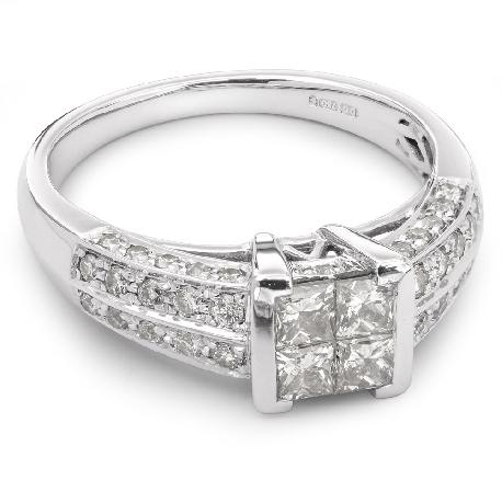 """Золотое кольцо с алмазами """"Принцессы 6"""""""