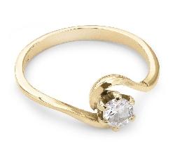 """Saderināšanās gredzens ar briljantu """"Viesulis"""""""