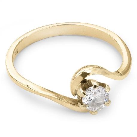 """Помолвочное кольцо с бриллиантом """"Вихрь"""""""